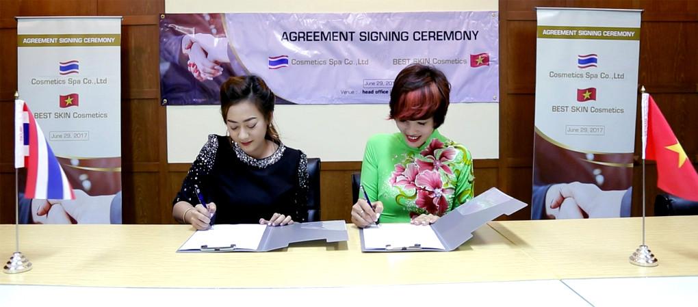 Best Skin kí hợp đồng hợp tác sản xuất với tập đoàn Anthawin - Thái Lan